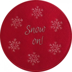 Snow On Mug Mat