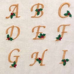 Holly Alphabet